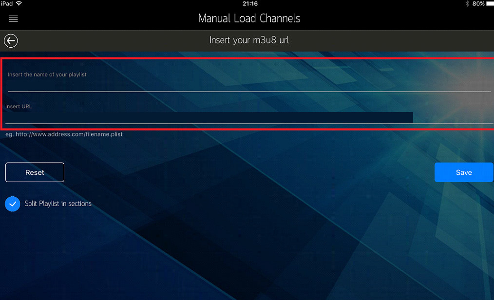 M3U IPTV on iphone ipad apple tv